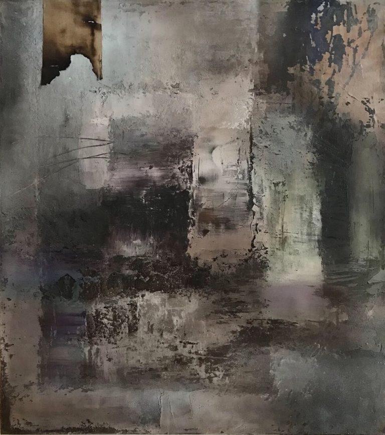Hondura - 100x90 cm - acrylic/mixed on canvas - 2019